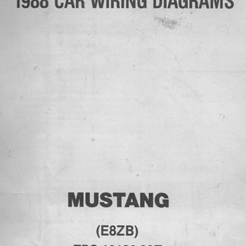 1988  Ford Mustang Wiring Diagrams