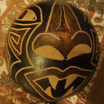 Evil Squirrel Mask!  Gift from Peru from some kind of nut!  Mask! not my friend Alex! - Visual Art