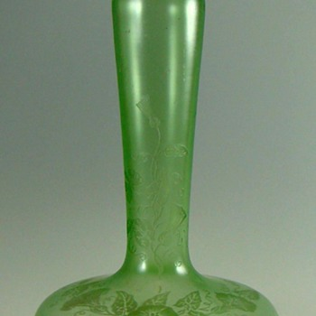 Loetz or Kralik ACB Morning Glories  vase c. 1910.