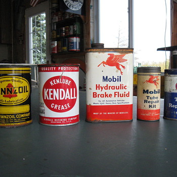 Old Gas & Oil Cans - Petroliana