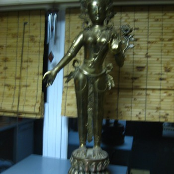 Radha & Krishna ?? Brass Statues - Asian