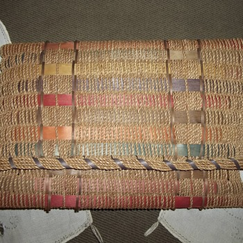 Maine Native American Ash and Hong Kong Cord woven Document Carrier Basket