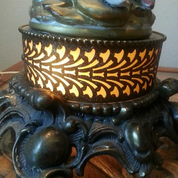 Beautiful vintage fountain lamp
