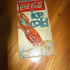 1930s Coca-Cola Vertical Cardboard sign