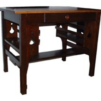 Oak Library Desk - Furniture