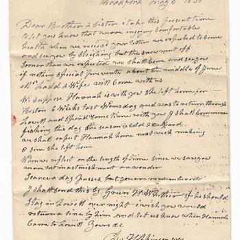 Letter delivered by John Greenleaf Whittier?