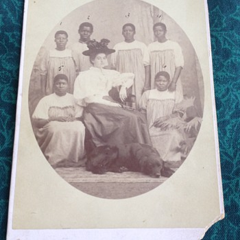 Rare Slave Owner with Servants with Names and Duties - Photographs