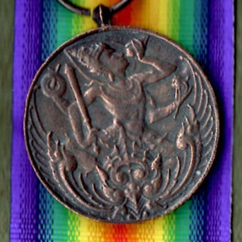 WWI Siamese and Brazilian Victory Medals