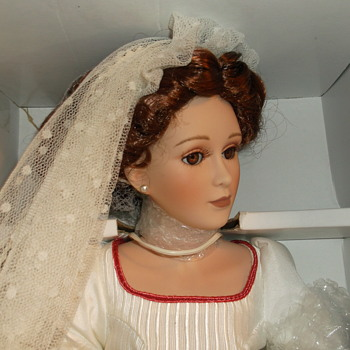 "Harlequin Reader Service Porcelain Doll  ""Harlequin Collectibles"" Bride doll"
