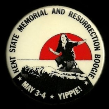 Kent State Shooting YIPPIE BOOGIE Vietnam era Pinback Button - Medals Pins and Badges
