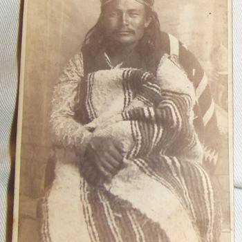 "Native American ""Sub Chief"" carte de visite"