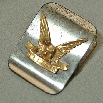 Vinatge Letter clip with Eagle