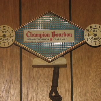 Champion Bourbon Bar Light - Advertising