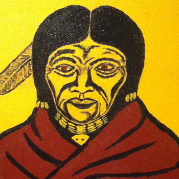 Painting from a native artist. - Native American