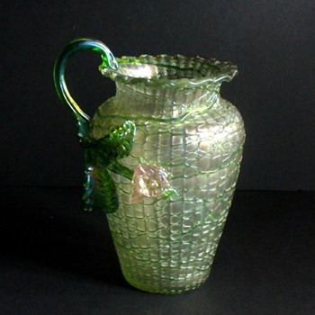 KRALIK CHINE PITCHER: THE VALUE OF A DAMAGED PIECE - Art Glass