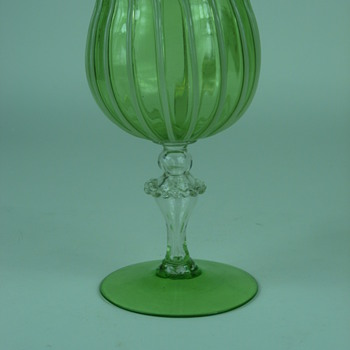 Art Glass Goblet--italian? - Art Glass
