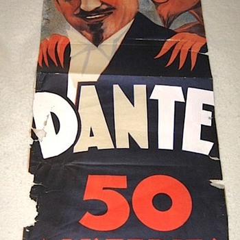 "Original 1936 ""Dante The Magician"" Stone Lithograph Poster - Posters and Prints"
