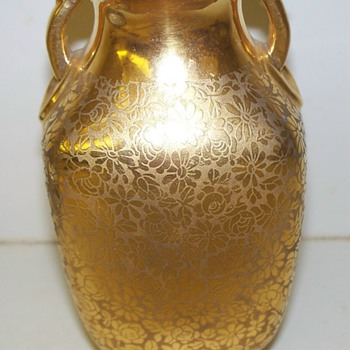 Gold Encrusted Vase,Czechoslovakia