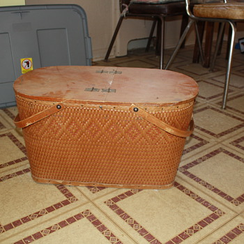 Antique Picnic Basket - Kitchen