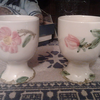 Vintage Floral Egg Cups - China and Dinnerware