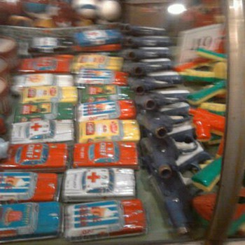 Tin toy cars...From Japan most likely.