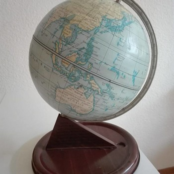 Tin Globe by Chad Valley (UK) from '53 - Office