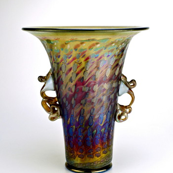 Jack Ink Iridescent Art Glass Vase (signed and numbered) made in Vienna Austria - Art Glass