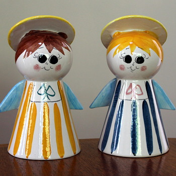 Angel money boxes, maker unknown