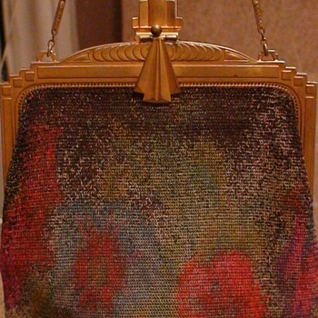 Art Deco Purse Whiting And Davis Dresden Style - Bags