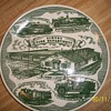 Collectible Plate has Pic of Sidney Fire Department plate was made by kettlesprings kilns allinance ohio