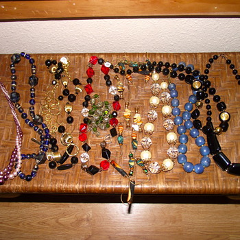 Pile of my latest finds - Costume Jewelry