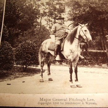 Ex Confederate Fitzhugh Lee as US Major Gen c. 1898
