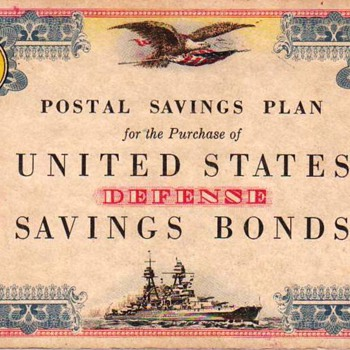 Postal Savings Plan Stamp Books 1940s 10 Cent and 1 Dollar Books - Stamps