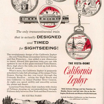 1953 - Western Pacific Railroad Advertisements - Advertising
