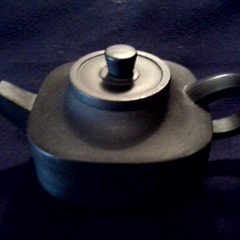 Little Chinese Black Ceramic Teapot / Impressed Mark / Unknown Age