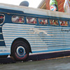 GREYHOUND BUS CARDBOARD STANDUP, 1940-50'S