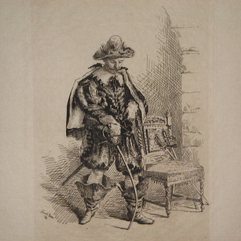 Musketeer etching - Posters and Prints