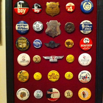 Pinback assortment 1900 -  1970