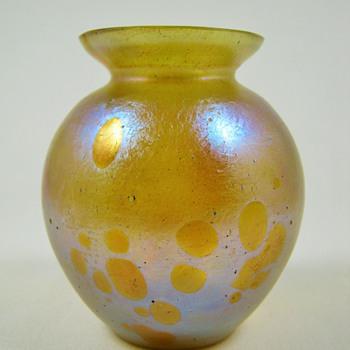"""Loetz Astraea Vase ca. 19oo 3"""" Tall - Art Glass"""