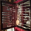 heirloom vintage and antique silverware and lg china set/vintage