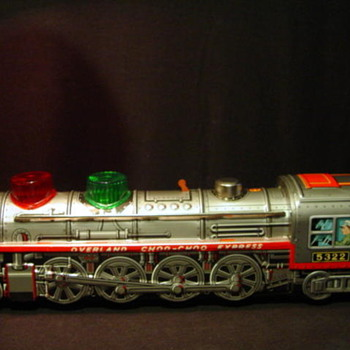 Overland Choo-Choo Kanto Toys JapanTin Plate Locomotive