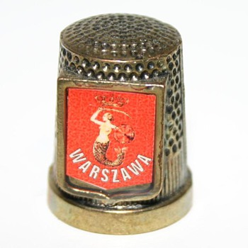 Metal Thimble - Warsaw Polland - Need help to identify please - Sewing