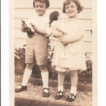 1920 Photo of Children w/ Toys  - Photographs