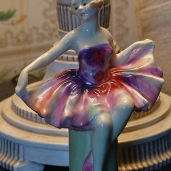 """Columbine"" Royal Doulton Leslie Harradine Figurine Art Deco"