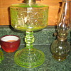 Canary two panel oil lamp