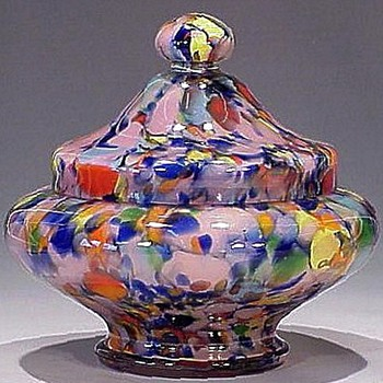 Rückl Glass, probable and documented - the pink and blue decorative pieces - Art Glass