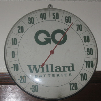 old batteries thermometer