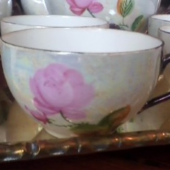 Antique Japanese Lusterware Tea Set~Hand Painted - China and Dinnerware
