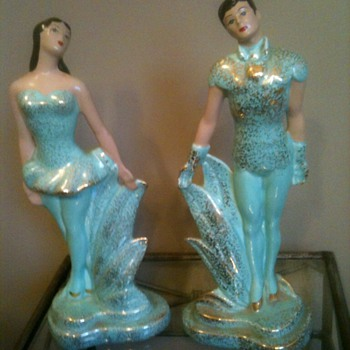 California Pottery Ballet Figurines