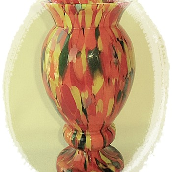 New Orange Spatter Vase - A Welcome Rückl Collection Addition